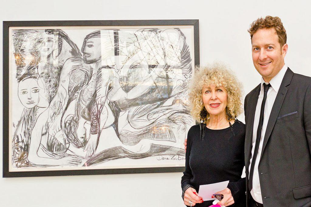 Artist Diana and son Tibor